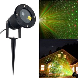 Wholesale Led Strobe Stars - LED FloodLight Outdoor Waterproof IP65 Laser Firefly Stage Lights Landscape Red Green Projector Christmas Garden Sky Star Lawn Lamps By DHL