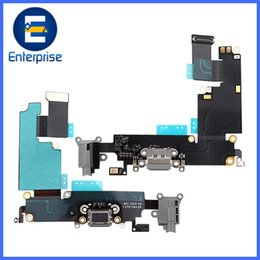 Wholesale headphone repair - A+ Quality For iPhone 6 Plus Charger Charging Port & Audio Headphone Jack Dock Flex Cable For iphone6 5.5 Repair Part DHL Free Ship