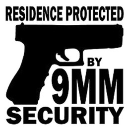 Wholesale Security For Doors Windows - 15CM*14.7CM Residence Protected By 9MM Security Vinyl Sticker Home Defense Car Sticker for Car Accessories Decoration