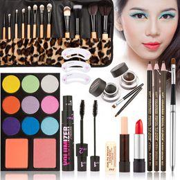 новая губная помада Скидка Wholesale- New Women Value Pack  Set Gift Gel Eye Liner Pen Eyebrow Pencil Sexy Lipstick Eye shadow tray Mascara Tool Kit