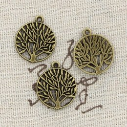Wholesale Vintage Antique Tree Pendant - Wholesale-99Cents 8pcs Charms peace tree 18mm Antique Making pendant fit,Vintage Tibetan Bronze,DIY bracelet necklace