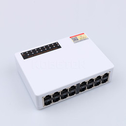 Wholesale Lan Switch Port - New 10 100Mbps 16 Ports Fast Ethernet Network Switch LAN RJ45 Vlan Switcher Hub Desktop PC with EU US Adapter High Quality