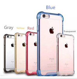 Wholesale Clear Hard Case Tpu Bumper - Crystal Transparent Phone Cover Case Shock Absorptionwith Transparent Hard Plastic Back Plate and Soft TPU Gel Bumper For Iphone 7 7Plus 6s