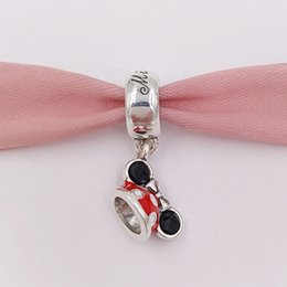 Wholesale Pandora Gold Bead Authentic - Authentic 925 Silver Beads Minnie Mouse Minnie Ear Hat Charm Charms Fits European Pandora Style Jewelry Bracelets & Necklace 7501057370327P