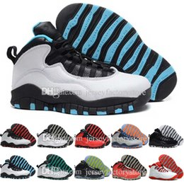 Wholesale Brand Sports Shoes China - 2017 Retro 10 Basketball Shoes Men Blue Air Retros 10s X Men's 's Sport Femme Homme China Brand Athletic Training Sneakers Shoes US 8-13