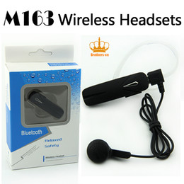 Wholesale Chinese New Fashion - New Arrive Fashion M163 Wireless Headset Bluetooth Earphone V4.1 Business Earbud For Smart phone iPhone Samsung Sony
