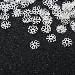 Livraison gratuite! 2 couleurs argent / or plaqué fleur capuchons entretoises pour perles résultats de bijoux ? partir de fabricateur