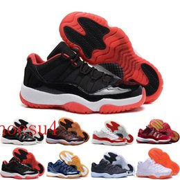 Wholesale Cheap Boots Free Shipping - Cheap Low top Retro 11S White Black Dark ConcordS 11 Sports Shoe 11's Concord Basketball Shoes Men Athletics Sneaker Boots free ship
