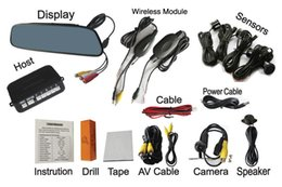 Wholesale Wireless Rearview Camera Monitors - Wireless Between Monitor And Camera 4.3 Inch Digital TFT LCD Panel Video Car Rearview Parking Sensors PZ603W PZ604W 4 Sensors