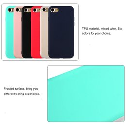 Wholesale Rubber Colorful Cell Phone Cases - Colorful Matte Soft TPU Case For Iphone8 Candy Color Silicone Rubber Cell Phone Cases For Iphone 8 7 Iphone6 6s Plus Back Skin Cover