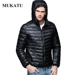 Wholesale Nylon Outerwear - Wholesale- Plus Size Men Parka Winter Hooded Jacket Coat 90% White Duck Down Coat Ultra Light Brand Male Jacket Men Casual Hooded Outerwear