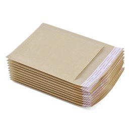 Wholesale Kraft Paper Bags Free Shipping - 110*130mm*4mm Packaging Shipping Bubble Mailers Padded Envelopes Bags Kraft Bubble Mailing Envelope Bags Free Shipping