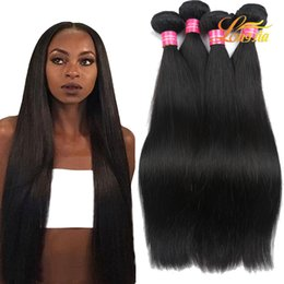 Wholesale Yaki Body - 100% Human Hair Extension Straight 8-28Inch Peruvian Straight Hair Weft Peruvian Body Wave Deep Wave Kinky Curly Loose Wave Yaki Straight