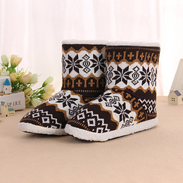 Wholesale Winter Warm Shoes For Men - Wholesale-Hot Fashion Large Size Winter Slippers For Men 2015 High Quality With Thick Soles Men Slippers Indoor Warm Shoes Made In China