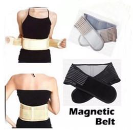 Wholesale Massage Therapy Belt - Yellow Back waist support Massage heating back belt Supporter Magnetic Therapy Belt Waist Lower Back brace Support Belt LLFA