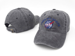 Wholesale Fall Ball Baseball - 2017 NEW Fashion rare I NEED MY SPACE NASA Meat Ball 6 god Embroidered Cotton dad hat snapback Baseball cap i feel like pablo casquette