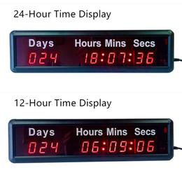 reloj reloj temporizador Rebajas Al por mayor- THE DAYS COUNTDOWN TIMER Hermosa grande LED Digital Wall Clock Diseño moderno Home Decor 3D Decoration Decorative Digital-watch