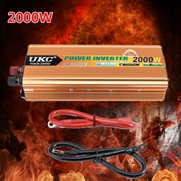 Wholesale Inverter Converter Charger - Wholesale- 2000W Car Sine Wave Power Inverter Converter Charger Car DC 12V to AC 220v Converter CY178-CN