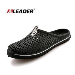 Wholesale Lightweight Women Slippers - Aleader Summer Women Slip on Grnden Shoes Croc Clogs Eva Beach Women Sandals Lightweight Unisex Beach Slippers Big size Sandals