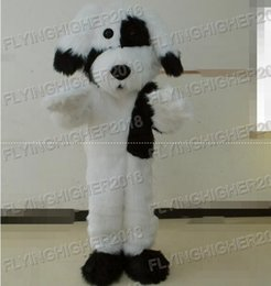 Wholesale White Dog Costume For Adults - Higher quality Black and white plush dog Mascot Costume for adults christmas Halloween Outfit Fancy Dress Suit Free Shipping