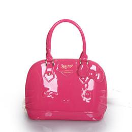 Wholesale Girls Bags China - Wholesale- Hello kitty bag girls handbag lovely cartoon portable white red shell bag hello kitty wholesale china