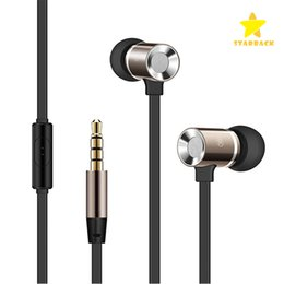 Wholesale Earphones Mic Retail - In-ear Earphone Headphone 1.2M 3.5MM Metal Earphone Heavy Bass Noise Cancelling Audio In-ear Hands Free with Mic With Retail Box