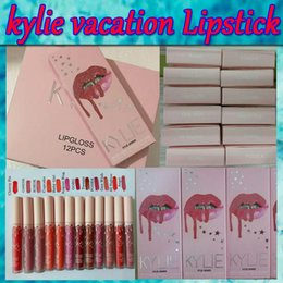 Wholesale I Love Pink Set - 2017 New kylie koko pink lip color + pen, 12-color lip color lip liner pen set Think of the new lipstick I love