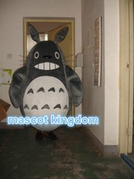 Wholesale Totoro Mascot Costume - Hot sale Totoro Cat Mascot Costume Halloween Party Dress Adult Free Shipping