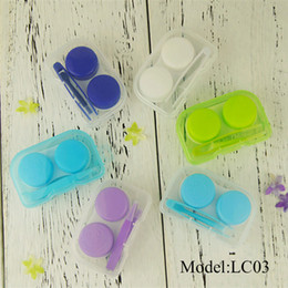 Rs plastiques en Ligne-LC03 Etui à lunettes Lentille de contact facile à transporter Kit de voyage Lentille de contact en plastique