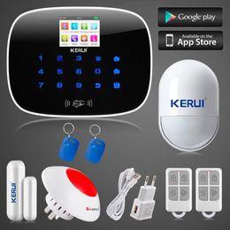 Wholesale Flashing Alarm - LS111- KERUI ios android app control 8 independent zones GSM home alarm system door window sensor open remind+wireless flashing siren