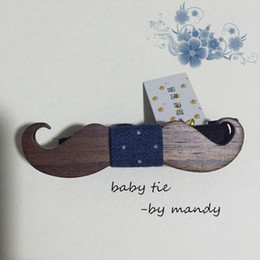 Wholesale Fun Bow - Wholesale- Fun Lovely children Wood bow tie ,Fashion Baby Neck ties free shipping