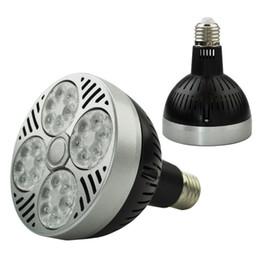 Wholesale Wholesale Umbrella Black White - LED Par30 35W Spotlight Par 30 Bulb Light E27 Indooor high power Lamp black white body 85V-265V
