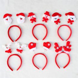 Wholesale Reindeer Christmas Costume - Christmas Hair Bands Kids Adult Christmas Xmas Novelty Headband Hat Costume Hair Clip Reindeer Santa Party Decor Hair Band Clasp Head Hoop
