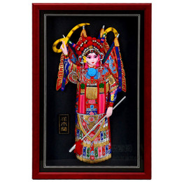 Wholesale Pictures Ceramic - Large frame relief, Peking opera characters, Mulan home living room, hotel wall decoration, picture frames, pendants