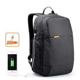 Wholesale Waterproof Business Backpack - Wholesale- kingsons 15.6 inch laptop men backpack business travel unisex knapsack anti theft with usb charger waterproof big capacity bags