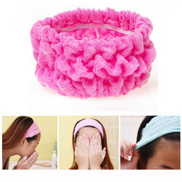 Wholesale Clean Sponge For Face - Wholesale- Elastic Headband Cute Women Hair Bands For Sport Yoga Shower Hair Band Bath Turban Wash Face Make Up Headbands Girls Accessories
