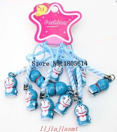 Wholesale Doraemon Backpack - Hot sale 50Pcs children favourite Doraemon toys backpack bell ornaments Lanyard Metal Movie & Cartoon Animation toy kid gift