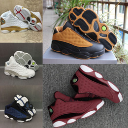 2017 entraîneur de chaussures de basket-ball rétro 2017 air retro 13 Pure Money Men Chaussures de basket-ball Low Chutney Navy DMP Heiress rouge rétro 13s Trainer Sneakers chaussures de sport US 8-13 entraîneur de chaussures de basket-ball rétro pas cher
