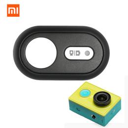 Wholesale Bluetooth Action Camera - Wholesale- Original Xiaomi Yi Camera Bluetooth Remote Controller Wireless Remote Shutter Button for Xiaomi Yi Action Camera # F3091