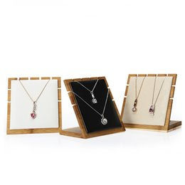 Wholesale Necklace Presentation - Bamboo Jewelry Necklace Display Prop Luxury for Boutique Shop Shelf Tabletop Necklaces Pendant Chains Showcase Jewellery Presentation