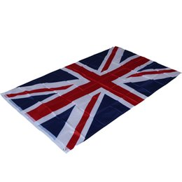 Wholesale Union Game - 87*148cm Great British United Kingdom National Hanging Flag - Home Decor Union Jack UK Flag for The World Cup   Olympic Game   parade