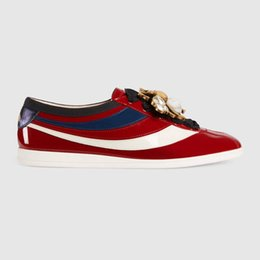Wholesale Flooring Products - women casual shoes Top luxury fashion woman shoes Designer latest products Manual reduction high quality Patent Leather model 181813397