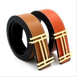 Wholesale Casual Wide Belts - Leisure wide belt buckle belts contracted joker character belts for man jeans fashion belt