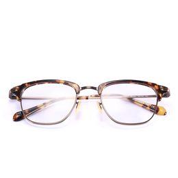 Wholesale Reading Glasses Gold Frame - men eyewear ov 1145 optiocal frame prescription glasses half-frame gold eyeglass frames 49mm glasses women reading glasses with case