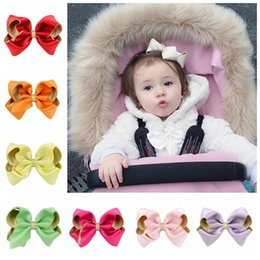 Wholesale Hair Rubber Diy - 10 colors lot Polyester DIY Hair Accessories Girls Hairbows Boutique Hair Bow Grosgrain Ribbon Handmade HairBow with Clips