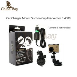Wholesale Sj Sports - Suction cup bracket with Sports Camera Car Charger For SJ series Action Cam Caemera SJ1000,SJ2000 3000,SJ4000 Mount Accessories