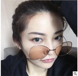 Wholesale Glass Ball Lens - 2017 new Metal ball men and women with glasses sunglasses coating spectacle frames hook foot star style