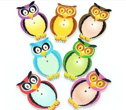 Wholesale Korean Style Owl Clothes - Wholesale lot Owl wood button DIY Sewing scrap booking