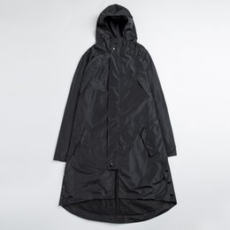 Wholesale Trench Coats Male Long Black - Wholesale- Plus Size High Quality Mens Black Trench Coats Male Hip Hop Irregular Windproof Waterproof Long Windbreaker Jackets 4XL 5XL