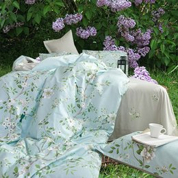 Wholesale Bedding Country Style - Riho 4-Piece 100% Cotton Rural Floral Rose Elegant Comfortable Bedding Sets Bedding Sheets Bed in a Bag(Yixi)